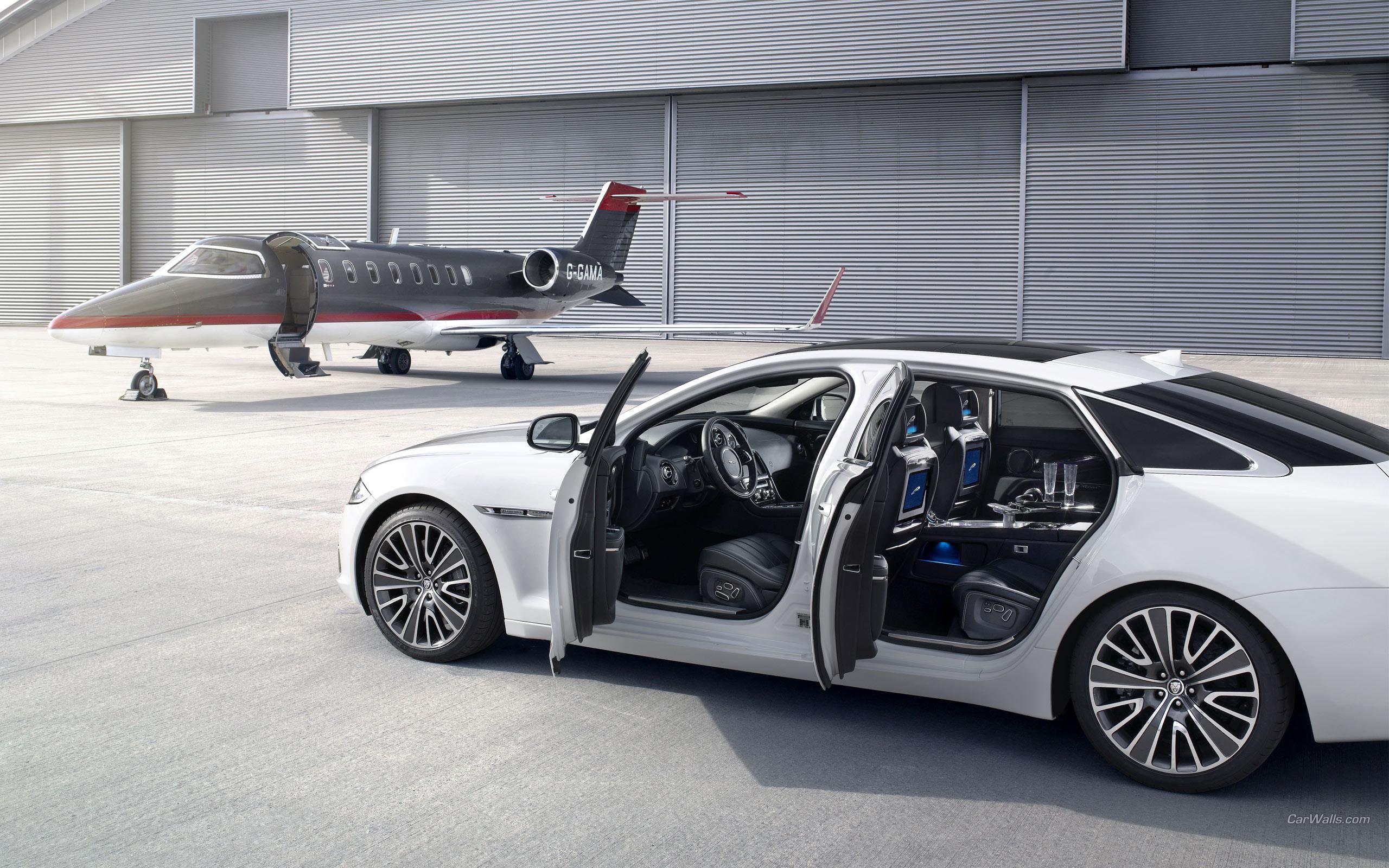 Jaguar Car And Private Jet Hd Wallpaper 17239 Ask Limousine
